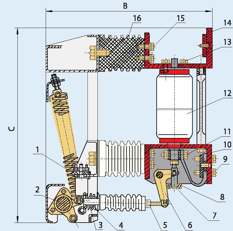 Общая схема выключателя серии